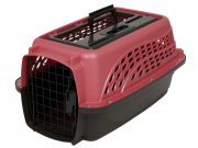 Petmate 2 Door Top Load kennel 48cm (<4,5kg) Roze/Bruin