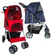 Pet Stroller with 4 wheels-Red 68x46x100cm