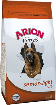Arion Senior-Light Weight Care 22/9 kip & rijst 3 kg